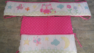 Girls Crib Bumper Pads