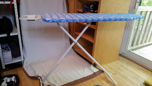 Blue Ironing Board with Iron Holder