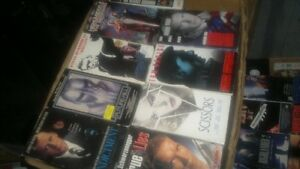 VHS Movies with cases and without cases.  also...