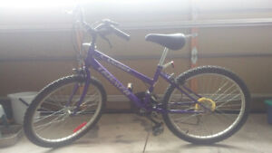Men's blue Triumph Laser bike, 24""