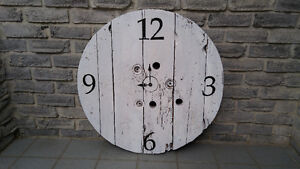 INDUSTRIAL CABLE SPOOL WALL CLOCK