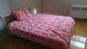 IKEA Wooden Twin Bed