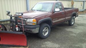 2002 GMC Sierra 2500hd boss V plow