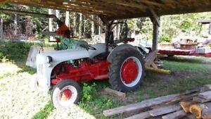 Ford Tractor 9 n c/w lawn rake