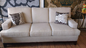 Fabric Sofa and Loveseat