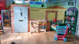 Indoor Playhouse & Shop. Ikea Trofast Storage Units Wooden Oven & Sink