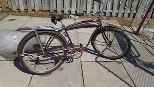 Antique Western flyer bicycle