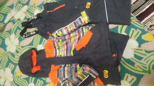 Winter jacket and snow pants for boy size 4