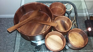 Wooden Salad Bowl Set Peterborough Peterborough Area image 2
