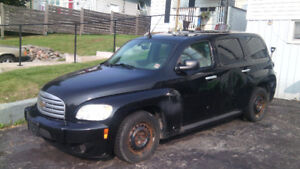 2007 Chevy HHR with winter tires on own rims.