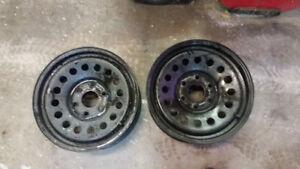 2 steel wheels 6 bolt Sierra or Silverado