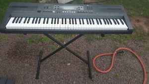 Casio keyboard, stand and stool