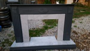 Electric fireplace  mantal