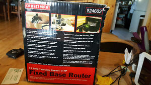 Craftsman fixed base router