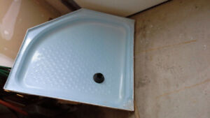 Shower pan for corner, 42 inches. NEW