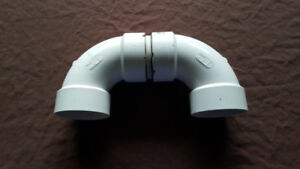 """System 636 3"""" gas vent 180 elbow fitting with SS screen"""
