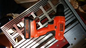 Black and Decker drill and charger