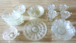 Antique Imperial Glass Co. Collection of Beaded Block 1927-1930