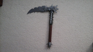 Fantasy medieval gothic metal sickle curved blade weapon