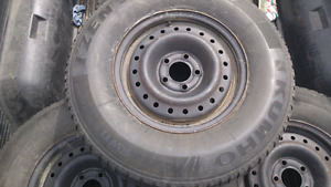 Summer tires with steel rims