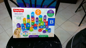 fisher price stack n learn alphabet blocks, CJT72