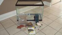 Aquarium Fish Tank , Reptile Turtle Tank with Supplies