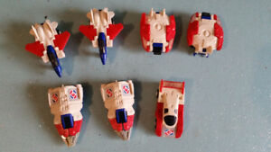 Vintage 80's Mcdonalds Commando Gamma Transformers Toys Lot