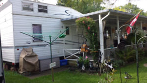 38' RV 2 bedroom with covered deck