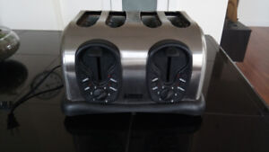 Stainless steel 4 thick Slice toaster
