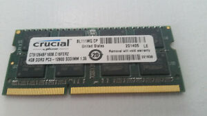 CRUCIAL 4GB DDR3 Laptop Memory Cambridge Kitchener Area image 1