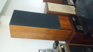 Vintage Realistic Optimus Teak Speakers