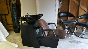 Shampoo Chair with Sink and New Hydroulic Massage Bed