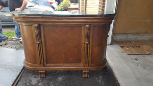 Wood home bar with granite countertops in great condition!