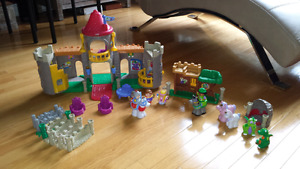 Little People Castle and Robin hood sets
