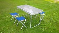 Broadstone portable camping table with 4 stools