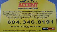 Roof Restoration...Roof De Moss ....Power wash & Guttters Repair