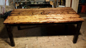 Hand Made Harvest Table for Horse Lovers