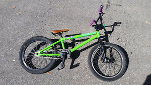 Green Sunday BMX with Odi Grips (used)