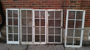 5 wooden windows - all for 100$