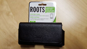 Roots Universal Horizontal Leather Cell Phone Case - Black, NEW London Ontario image 1
