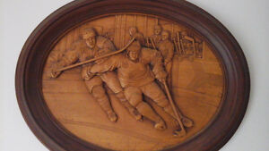 Carved Detroit Red wings picture - Christmas only 18 days away