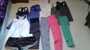 Size small and medium active wear