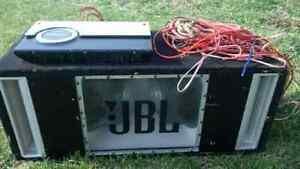 """pair of jbl 12"""" with amp&wires"""