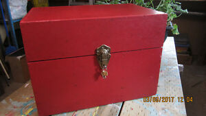 Rustic Red Wooden Storage Box