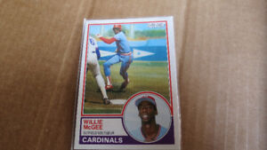 Willie McGee MLB rookie card