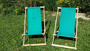 VINTAGE CANVAS SLING CHAIRS