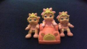 Miss Piggy car and Miss Piggy figurines