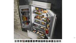 "KitchenAid 42"" Architect Series build-in SS refrigerator"