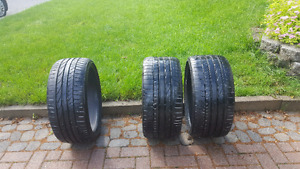 3 BMW Bridgestone  Runflats Performance tires.