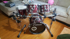 Sonor kit with rack
